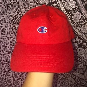 NWOT red champion hat
